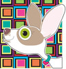 Chihuahua dog with big ears clipart