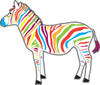 colorful zebra clipart