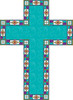 an easter cross for the christian holiday clipart