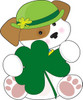 puppy dog with shamrock and irish bowler hat for st patricks day celebration clipart