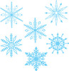 snowflakes on white background clipart