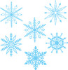 delicate snowflakes clipart