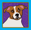 cartoon drawing of a jack russell terrier dog clipart