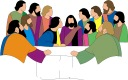 clipart image of the last supper